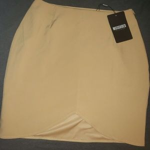 Missguided Tan Skirt - Size S (NWT)